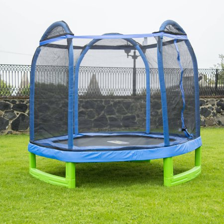 Bounce Pro 7-Foot My First Trampoline Hexagon (Ages 3-10) for Kids, (Bouncepro By Sportspower 15 Trampoline Weight Limit)