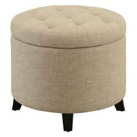 Convenience Concepts Designs4Comfort Round Ottoman, Multiple Colors