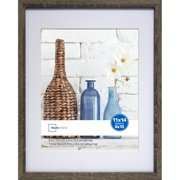 Mainstays 11x14 Matted to 8x10 Linear Frame, Rustic