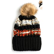 00480e1dce468 Newbee Fashion - Women Winter soft Knitted Beanie Hat Faux Fur Pom Pom  Beanie Hat with Warm Fleece Lined Extra Thick Skull Slouchy Cable Knit Hat  Ski Cap ...