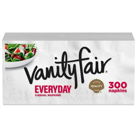 (3 pack) Vanity Fair Everyday Paper Napkins, 300 Napkins (900 Napkins Total) 3 Ply Paper Napkin