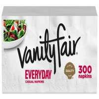(3 pack) Vanity Fair Everyday Paper Napkins, 300 Napkins (900 Napkins Total)