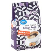 Great Value 100% Arabica French Roast Dark Ground Coffee, 32 oz