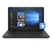 "HP 15 Laptop 15.6"" Touchscreen Laptop , Intel Pentium Silver N5000, 1TB HDD, 4GB SDRAM, Windows 10 - Jet Black - 15-bs289wm"