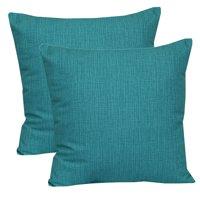 "Mainstays Outdoor Toss Pillow, 16"" x 16"", Monti Aqua - Set of 2"