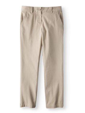 Girls School Uniform Stretch Twill Straight Fit Pants