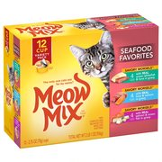 Meow Mix Savory Morsels Seafood Favorites Variety Pack, 2.75-Ounce