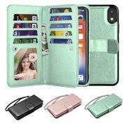 iPhone XR Case, Wallet Case iPhone XR, iPhone XR Pu Leather Case, Njjex