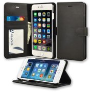 Abacus24-7 iPhone 6 Plus Case Wallet with Flip Cover, Credit Card Holders &