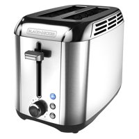 BLACK+DECKER Rapid Toast 2-Slice Toaster, Stainless Steel, TR3500SD