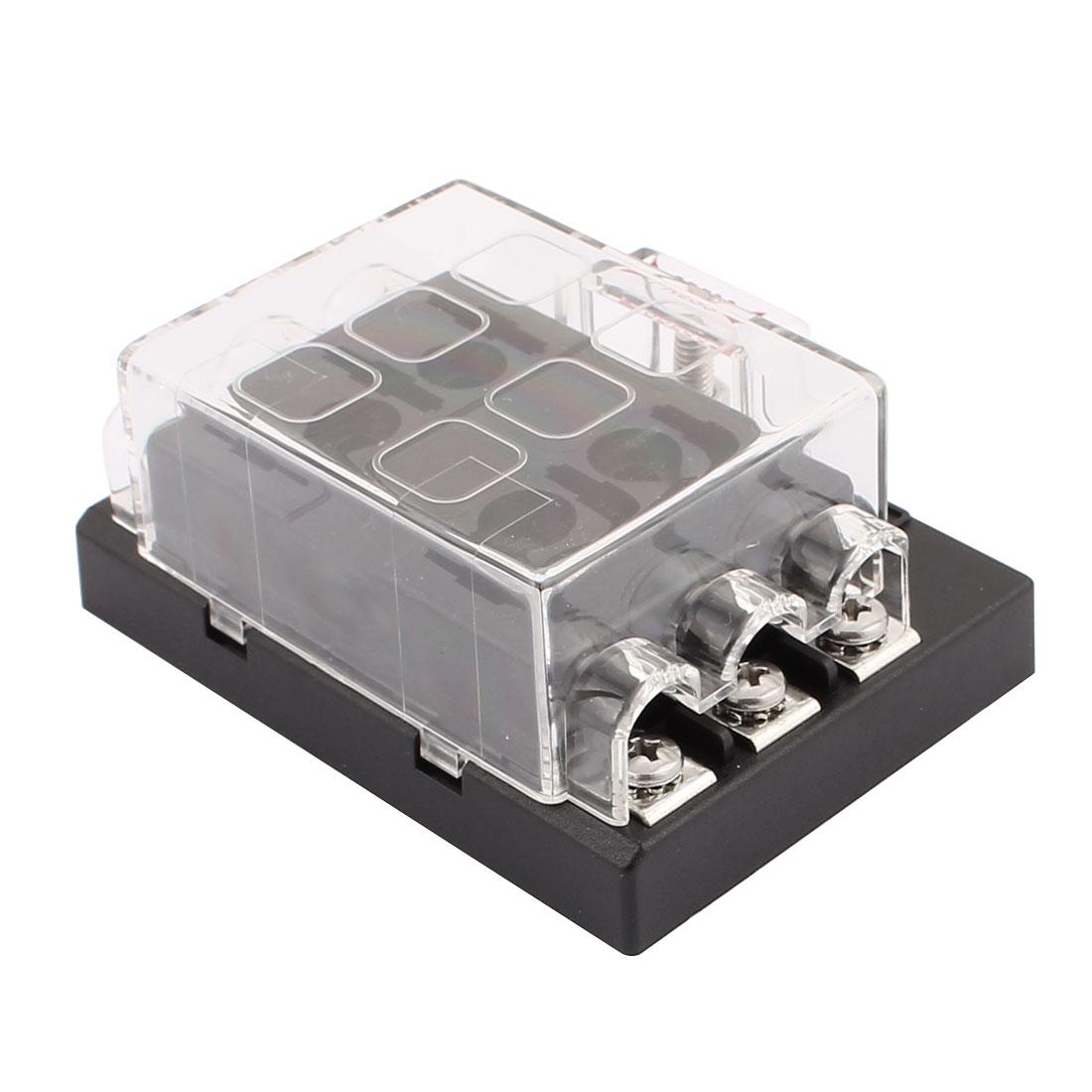 fuse blocks car wiring harness box dc32v 6 way terminals circuit atc ato car suv auto fuse box block holder