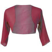 a5fef54182d Faship Chiffon 3 4 Sleeve Bolero Shrug Cardigan Top