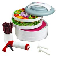 Nesco FD-61WHC Snackmaster Express Food Dehydrator All-In-One Kit with Jerky Gun