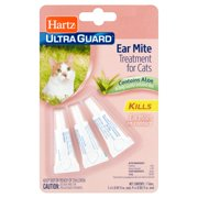 Hartz Ultra Guard Ear Mite Treatment for Cats, 0.101 fl oz, 3 count