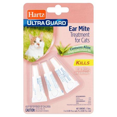 Pet Swabs Ear Relief Wash - Hartz Ultra Guard Ear Mite Treatment for Cats, 0.101 fl oz, 3 count
