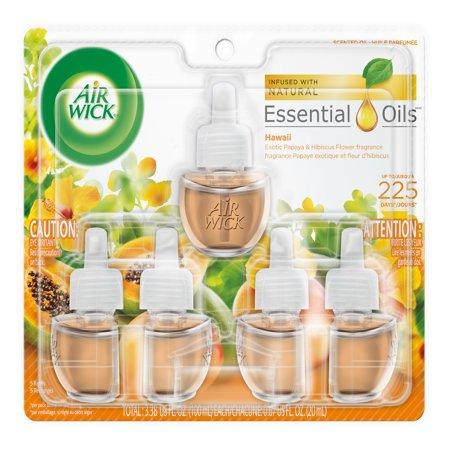 Air Wick Scented Oil 5 Refills, Hawaii, (5X0.67oz), Air (Best Air Wick Tasting Coconut Oils)