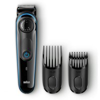 Braun BT3040 Men's Beard Trimmer/Hair Clipper, 39 Precision Length Settings for Ultimate Precision, Includes Fusion ProGlide Razor