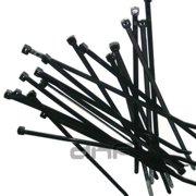 3bbbc37c6c08 70 LBS 11 INCH BLACK NYLON UV WEATHER RESISTANT ZIP TIE WIRE CABLE 11