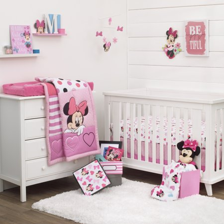 Disney Minnie Mouse Loves Dots 3 Pc Crib Bedding Set And