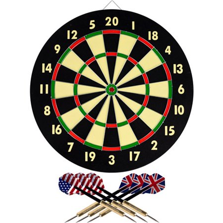 Trademark Games Dart Game Set With 6 Darts And Board Walmart Com