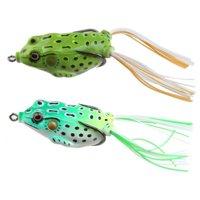 AGPtek 3pcs Lifelike Frog Topwater Crankbait Fishing Lures - Light Green