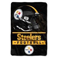 "NFL Pittsburgh Steelers ""Sideline"" Oversized Micro Raschel Throw Blanket, 62"" x 90"""