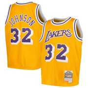 183475b4 Magic Johnson Los Angeles Lakers Mitchell & Ness Youth Swingman Throwback  Jersey - Gold