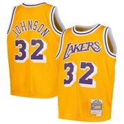 184eb022173 Magic Johnson Los Angeles Lakers Mitchell & Ness Youth Swingman Throwback  Jersey - Gold