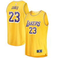 LeBron James Los Angeles Lakers Fanatics Branded 2018/19 Fast Break Replica Jersey Gold - Icon Edition