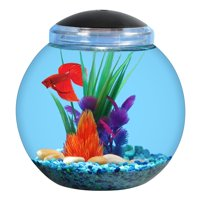 Aqua Culture 1-Gallon Globe Fish Bowl with LED Light