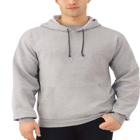 Fruit of the Loom Men's Dual Defense EverSoft Pullover Hooded (Black Tek Patch Hooded Sweatshirt)