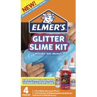Elmer's Glitter Slime Kit, Liquid Glitter Glue, Assorted Colors, with Glue Slime Activator, 4 Count