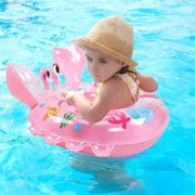 60361e44be0 Baby Swimming Ring Floats with Safety Seat Double Handle Inflatable Infant  Swim Ring for Babies Kids