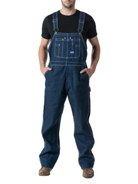 Men's 100% Cotton Rigid Denim Bib Overall