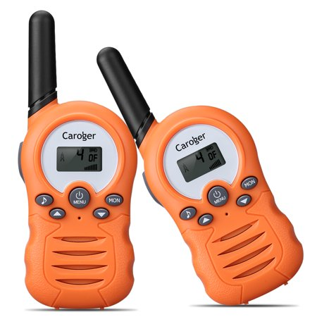 Eclipse 2 Way Radio - Kids Walkie Talkies for Kids Rechargeable Long Range Two Way Radios 22 Channel Walky Talky FRS Walkie Talkies for Kids (Orange)