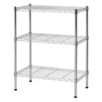"Muscle Rack 3-Shelf 24""W x 30""H x 14""D Steel Wire Commercial Shelving Unit"