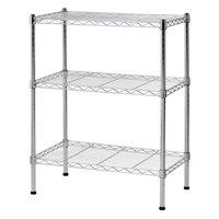 "Muscle Rack 3-Shelf 24""W x 30""H x 14""D Steel Wire Commercial Shelving Unit"
