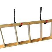 Esynic 6pcs Heavy Duty Storage Hooks Wall Mounted Ladder Garage Bikes Tools Utility Organizer