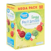 Great Value Tangy Fruit Smiles, 45 Oz.