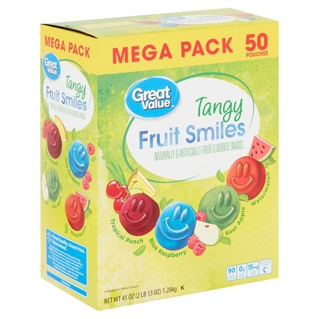 Great Value Tangy Fruit Smiles, 45 Oz. - Value City.com