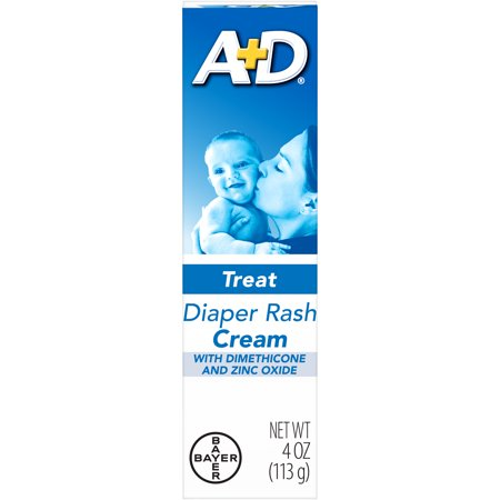 Fougera Zinc Oxide Ointment - A+D Zinc Oxide Diaper Rash Treatment Cream, 4 Ounce Tube