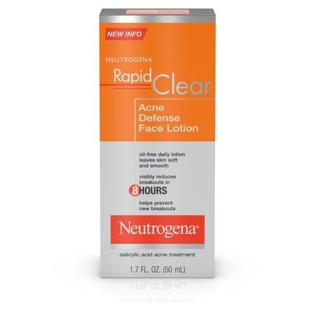 Neutrogena Rapid Clear Acne Defense Face Lotion, 1.7 fl.