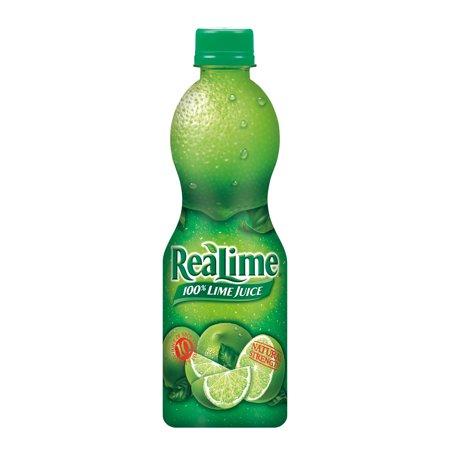 (2 pack) Realime 100% Lime Juice, 15 Fl Oz, 1 -