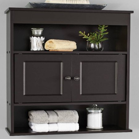 mainstays bathroom wall cabinet espresso walmart 18248