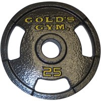 Gold's Gym Olympic Grip Weight Plate, Single