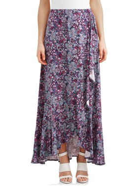 Women's Flounce Wrap Skirt