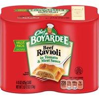 (3 Pack) Chef Boyardee Beef Ravioli, 15 oz, 4 Pack