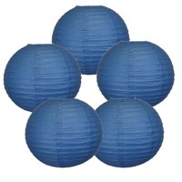 """10"""" White Paper Lanterns (Set of 5, White, 10inch) - Round Chinese/Japanese Hanging Paper Lanterns - Lights not included - Party, Wedding and Home Décor."""