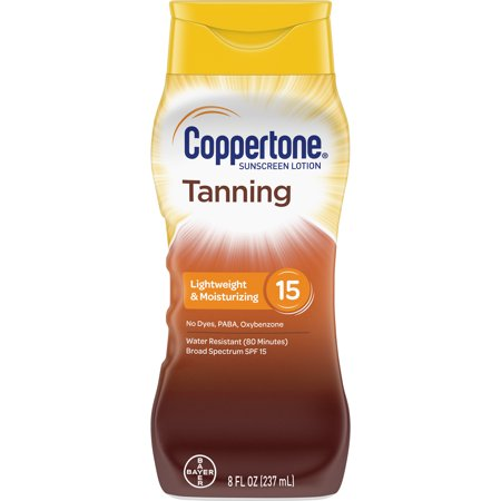 Coppertone Tanning Defend & Glow Sunscreen Vitamin E Lotion, SPF 15, 8oz