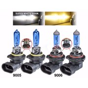 9005 9006 Xenon HID Headlight High Low Beam Halogen Bulbs Combo 5000K White